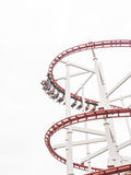Roller coaster. With people at amusement park Royalty Free Stock Photo