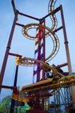 Roller coaster in Prater, Wien Stock Photos