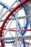 Roller coaster rail Royalty Free Stock Photo