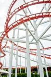 Roller coaster rail Royalty Free Stock Photo