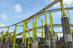Roller coaster rail Royalty Free Stock Images