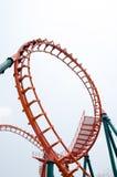 Roller coaster rail Royalty Free Stock Photos