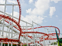 Roller coaster rial Stock Images