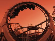 Roller coaster ride Royalty Free Stock Images