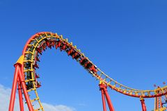 A Roller Coaster ride at Amusement park in Vienna Royalty Free Stock Photos