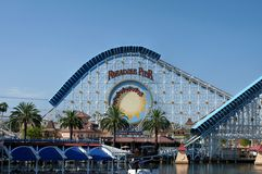 Roller Coaster Ride at California Adventure Stock Images