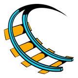Roller coaster ride icon, icon cartoon stock illustration