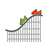Roller Coaster. Coaster, roller, ride icon vector image. Can also be used for circus. Suitable for mobile apps, web apps and print media royalty free illustration