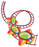 A roller coaster ride. Illustration of a roller coaster ride on a white background royalty free illustration