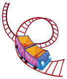 A roller coaster ride. Illustration of a roller coaster ride on a white background stock illustration