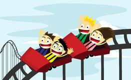 Roller Coaster Ride. A roller coaster ride for the kids vector illustration