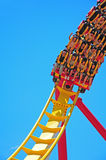 roller coaster riders royalty free stock image