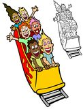 Roller Coaster Riders stock illustration