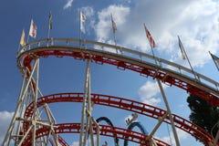 roller coaster Rojo-blanco Fotografía de archivo libre de regalías