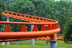 A roller coaster. In park Royalty Free Stock Photography