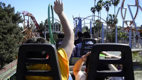 Roller coaster's fun stock footage