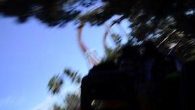Roller coaster's fun stock footage