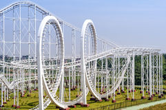 Roller coaster's loop Stock Photo