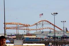 Roller Coaster, Santa Monica beach, San Diego, California Royalty Free Stock Photos