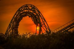 The Roller Coaster, Shijingshan Stock Images