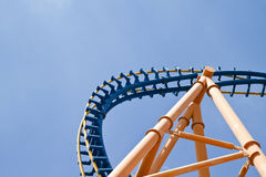 Roller coaster sky detail Stock Photos