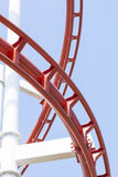 Roller coaster steel structure track. Royalty Free Stock Photo