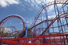 Roller coaster at Sunny beach Royalty Free Stock Photo