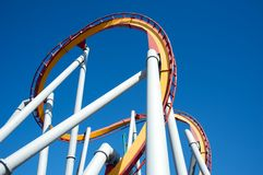 Roller coaster on a sunny day Royalty Free Stock Image