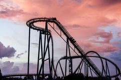 Roller Coaster Sunset royalty free stock photography