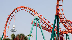 Roller coaster in thailand Royalty Free Stock Photo