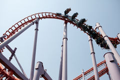 Roller coaster in thailand Stock Photo