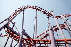 Roller coaster in thailand Royalty Free Stock Photos