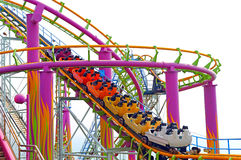 Roller coaster. Thrilling roller coaster ride at ocean park hong kong royalty free stock images