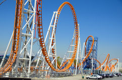 Roller Coaster. Thunderbolt is a steel roller coaster at Luna Park, Coney Island, Brooklyn, New York City Royalty Free Stock Images
