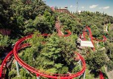 Roller Coaster. Tibidabo. Barcelona. Stock Image