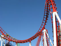 Roller coaster in Tigre, Buenos Aires Stock Image