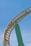 Roller coaster Track. Against a brilliant blue sky Royalty Free Stock Images