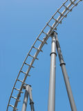 Roller coaster track. A portion of a roller coaster track Royalty Free Stock Image