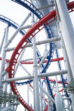 Roller Coaster Track. A roller coaster track in an amusement park Royalty Free Stock Photo