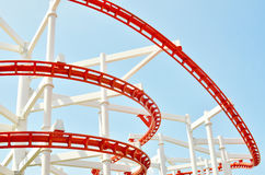 Roller Coaster Track Royalty Free Stock Photography