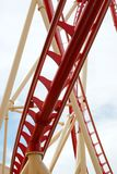 Roller Coaster Track Close Up Royalty Free Stock Images