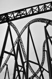 Roller coaster track construction Stock Photo