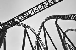Roller coaster track construction Royalty Free Stock Photography