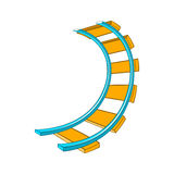 Roller coaster track icon in cartoon style Royalty Free Stock Photo