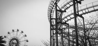 Roller coaster track structure Stock Photo