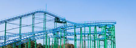 Roller coaster track structure Royalty Free Stock Photography