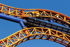 Roller coaster track Stock Photo