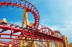 Roller coaster track Stock Photos