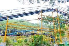 The roller coaster track Stock Photos