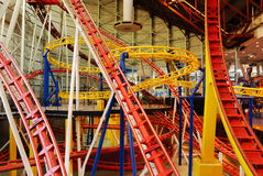 Roller Coaster Tracks In West Edmonton Mall Royalty Free Stock Photos
